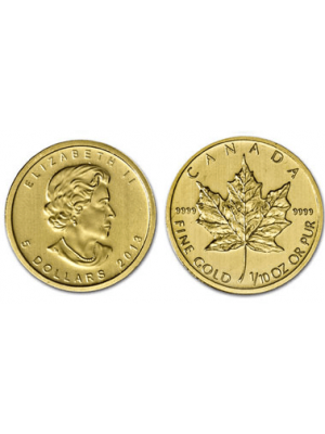 Gouden Maple Leaf 1/10 t/oz.
