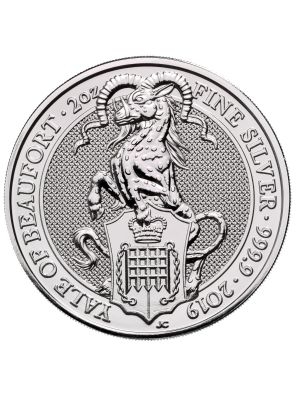 Queen´s Beasts White Horse 2020 2 troy ounce zilveren munt