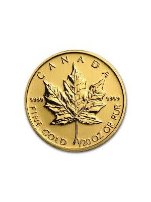 Maple Leaf 1/20 troy ounce gouden munt